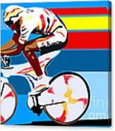 spanish cycling athlete illustration print Miguel Indurain Canvas Print