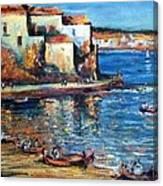 Spanish Fishing Village Canvas Print