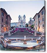 Spanish Steps Famous Stairway Rome Italy Canvas Print