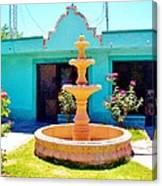 Spanish Water Fountain De San Francisco Conchos Canvas Print