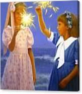 Sparkler Duet Canvas Print