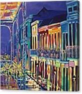 Sparkling Night On Bourbon Street Canvas Print
