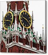 Spassky - Savior's - Tower Of Moscow Kremlin - Featured 2 Canvas Print