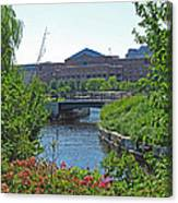 Spaulding Rehab From North Point Park Canvas Print