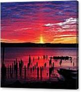 Spectacular Hudson Sunrise Canvas Print