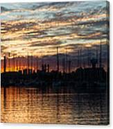 Spectacular Sky - Toronto Beaches Marina Canvas Print