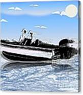Speed Boating Canvas Print