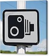 Speed Camera Sign Folkestone Canvas Print