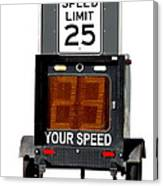 Speed Limit Monitor Canvas Print