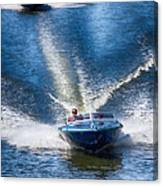Speed On The Water Canvas Print
