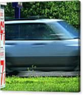 Speeding Gas Prices Canvas Print