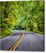Speeding Through The Forest E42 Canvas Print