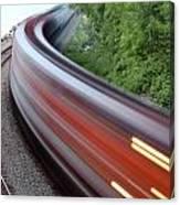 Speeding Train Canvas Print
