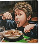 Spaghetti Boy Canvas Print