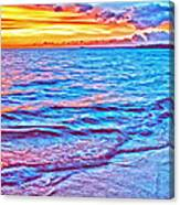 Spencer Beach Sunset Canvas Print