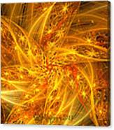 Spherical Golden Stars Canvas Print
