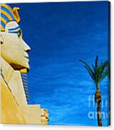 Sphinx And Palm Trees Las Vegas Canvas Print
