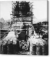 Sphinx Scaffolding, Early 20th Century Canvas Print