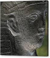 Sphinx Statue Head Grey Usa Canvas Print