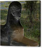 Sphinx Statue Three Quarter Profile Solar Usa Canvas Print
