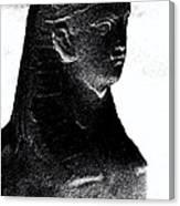 Sphinx Statue Torso Black And White Usa Canvas Print