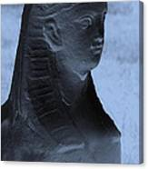Sphinx Statue Torso Blue And Gray Usa Canvas Print