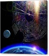 Spiders In Space - The Beginning Of The End Canvas Print