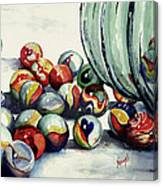 Spilled Marbles Canvas Print