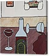 Essence Of Home - Spilt Glass Of Wine Canvas Print