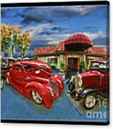 Spin A Yarn Car Show Canvas Print