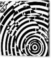 Spin Art Seahorse Maze  Canvas Print
