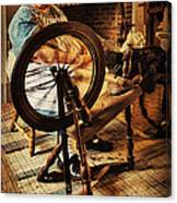 Spinnin' Spinster Canvas Print