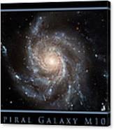 Spiral Galaxy M101 Canvas Print
