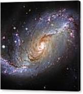 Spiral Galaxy Ngc 1672 Canvas Print