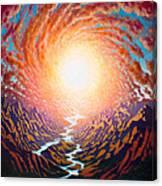 Spiral Glow Canvas Print
