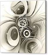 Spiral Mania 2 - Black And White Canvas Print