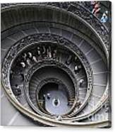 Spiral Staircase By Giuseppe Momo At The Vatican Museum. Rome. Italy Canvas Print