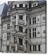 Spiral Staircase Chateau Blois  Canvas Print