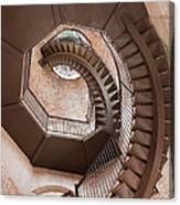 Spiral Staircase In Lamberti Tower Canvas Print
