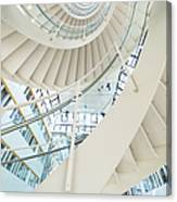 Spiral Staircase Inside Office Complex Canvas Print