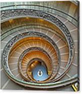 Spiral Staircase Vatican Canvas Print