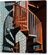 Spiral Stairs - Color Canvas Print