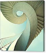 Spiral Stairs In Pastel Tones Canvas Print