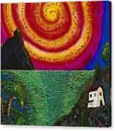 Spiral Sun Canvas Print