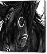 Spirit Feathers Horse Canvas Print