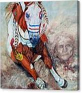 Spirit Of A War Pony  Canvas Print