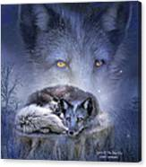 Spirit Of The Blue Fox Canvas Print