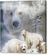 Spirit Of The White Bears Canvas Print