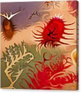 Spirits And Roses Canvas Print