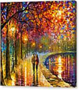Spirits By The Lake - Palette Knife Oil Painting On Canvas By Leonid Afremov Canvas Print